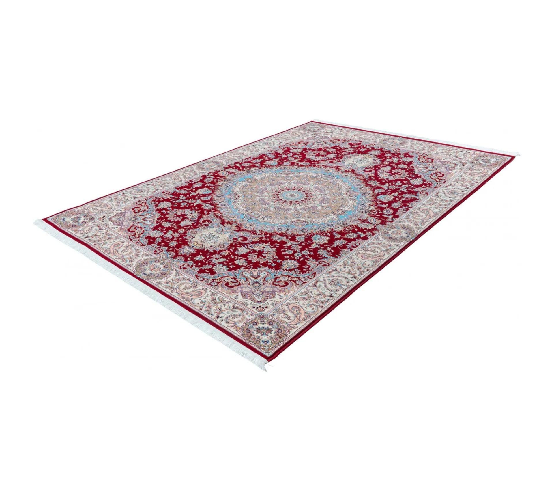 tapis dorient avec franges de grande qualite rectangle raleigh rouge 240x330