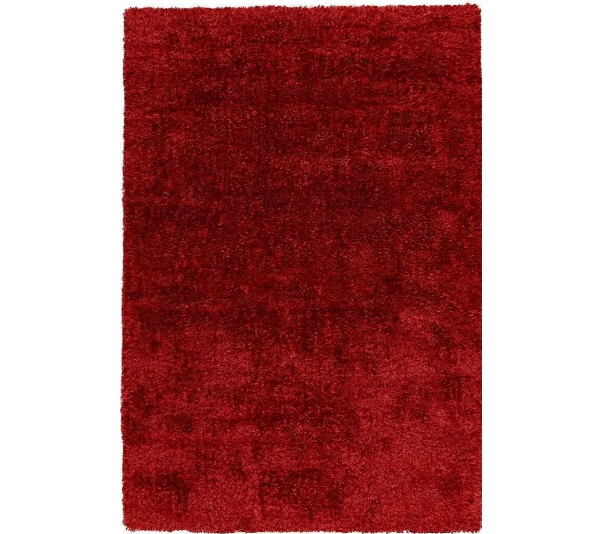 tapis grace shaggy rouge 60 x 110 cm