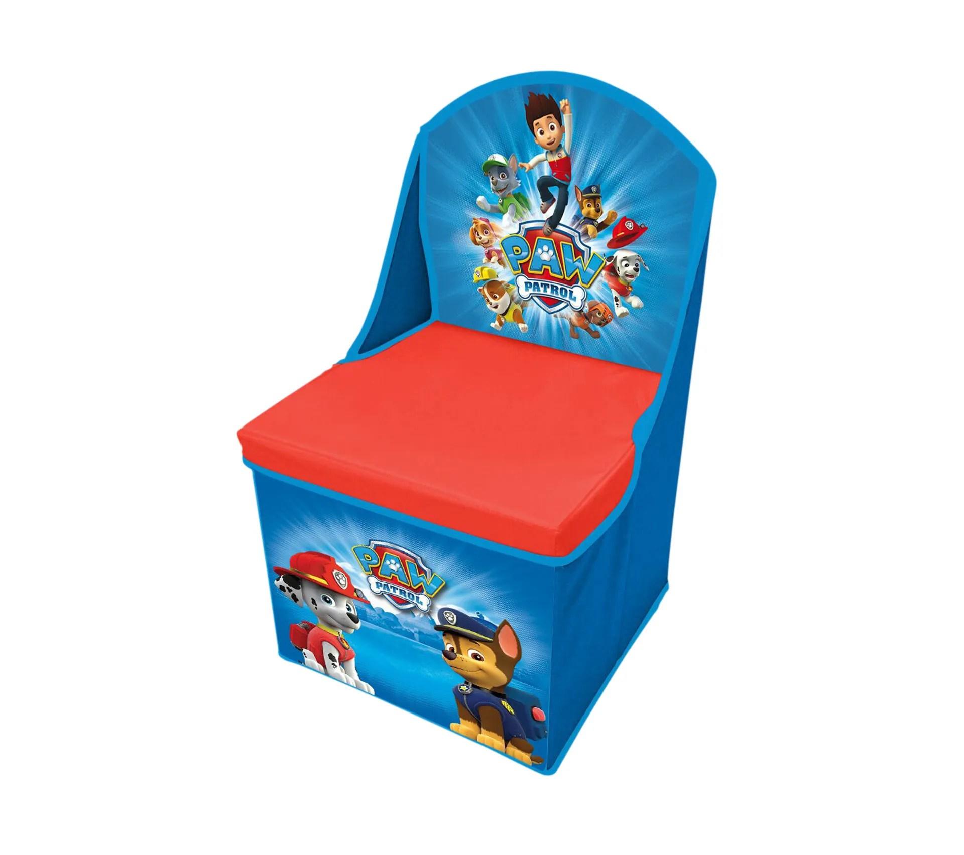 chaise pliable rangement paw patrol bleu