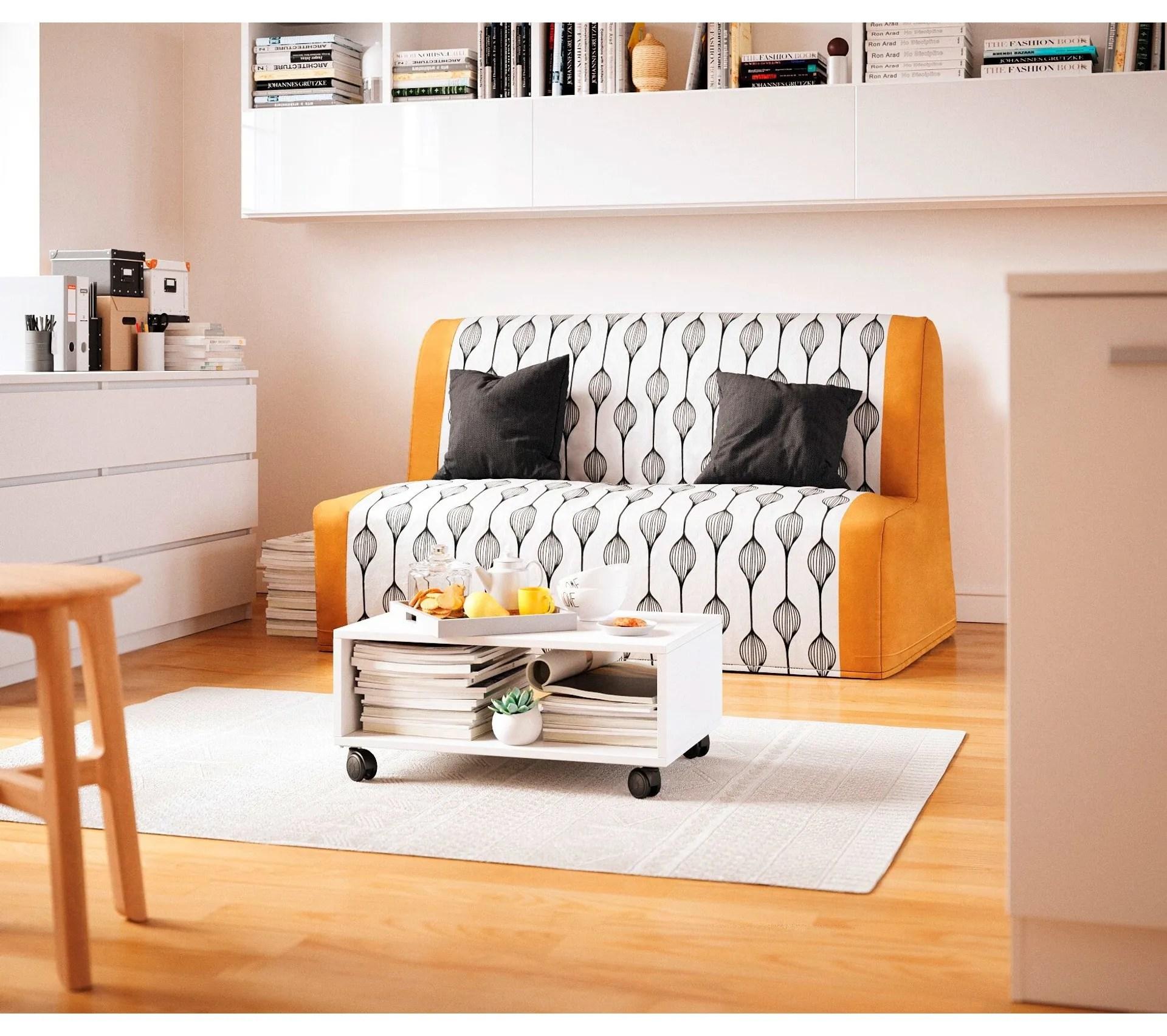 meuble tv avec roulettes costy 3 blanc