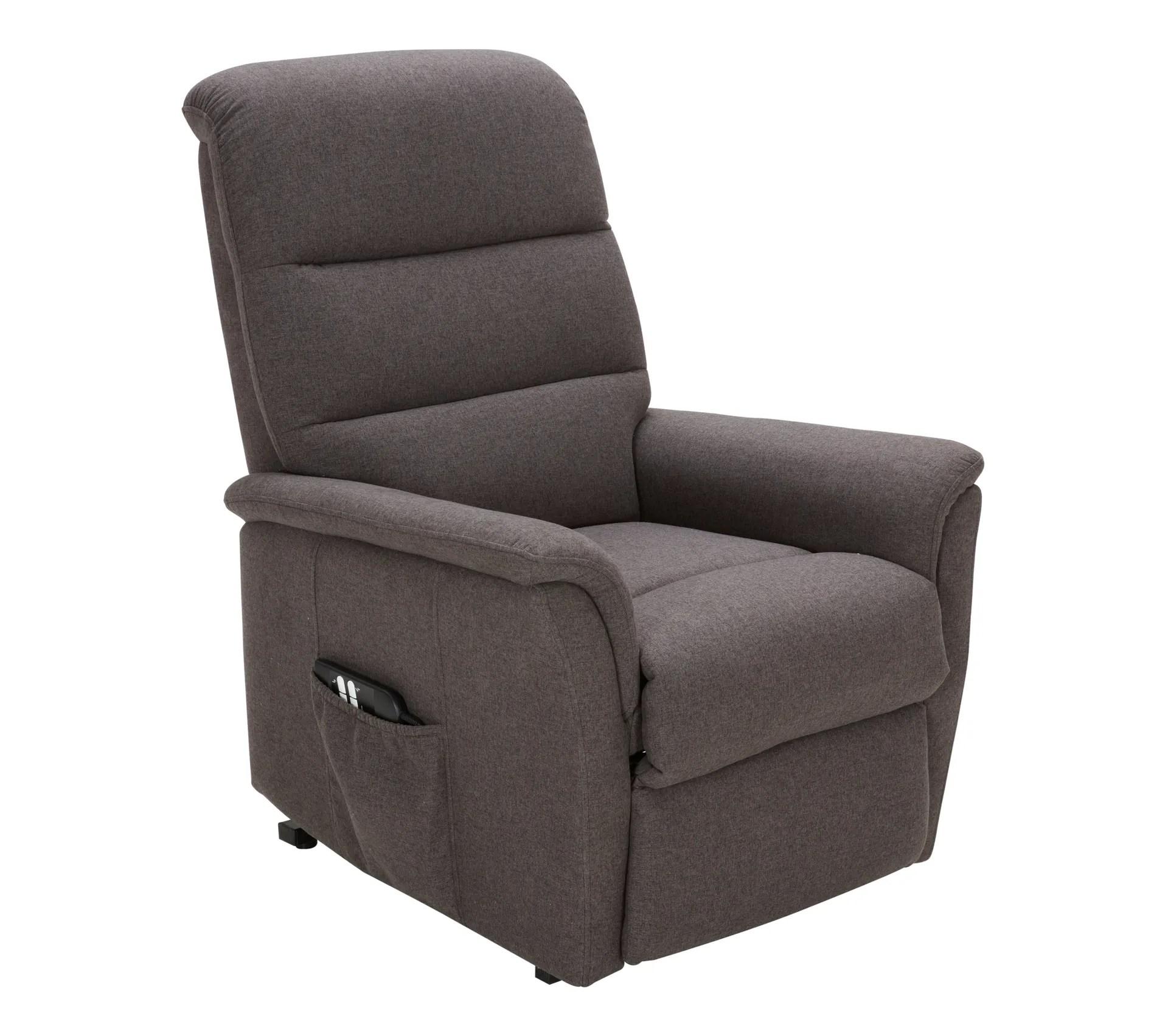 fauteuil relax releveur 2 moteurs kennedy tissu gris fonce
