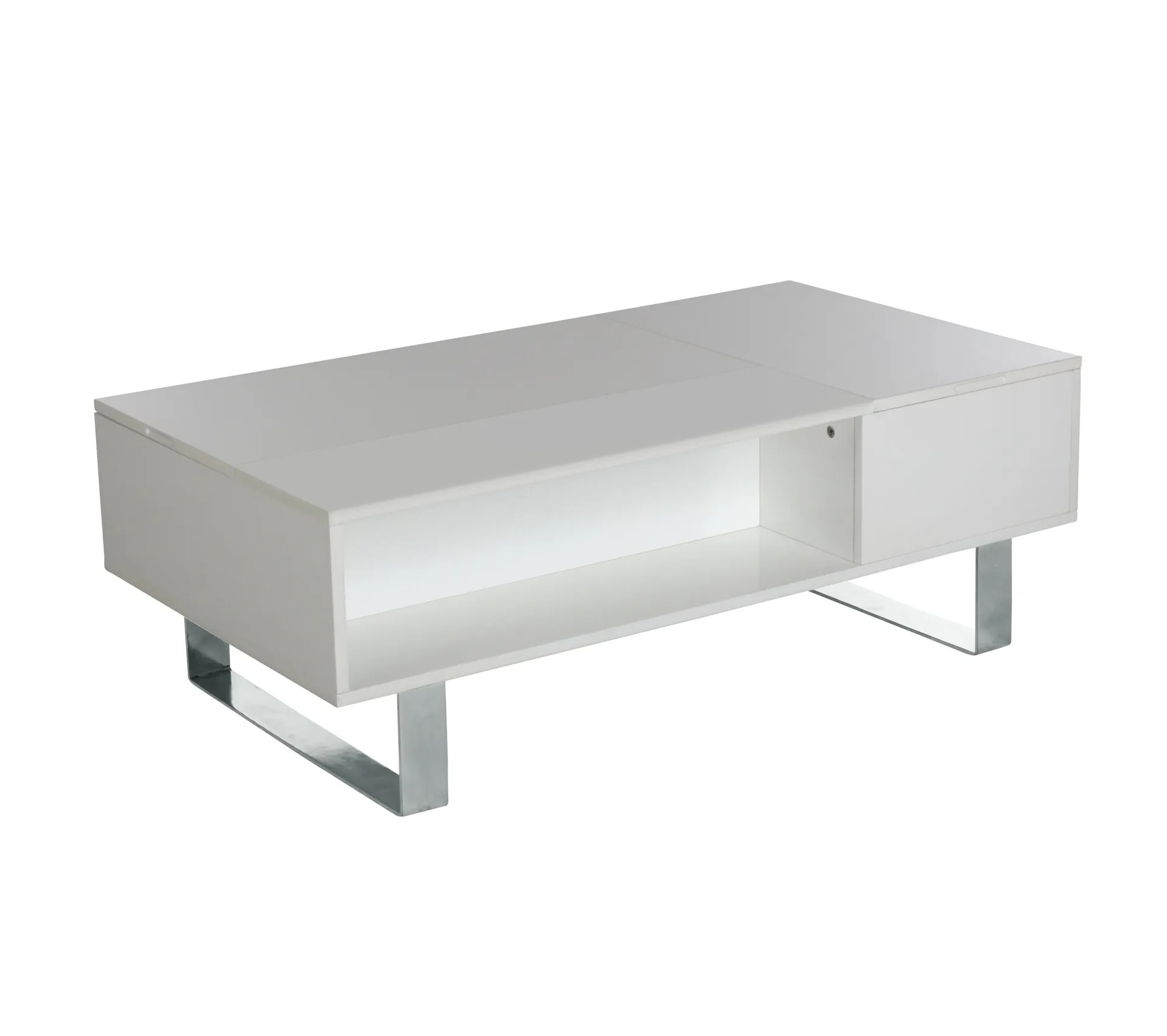 table basse plateau relevable hampton blanc