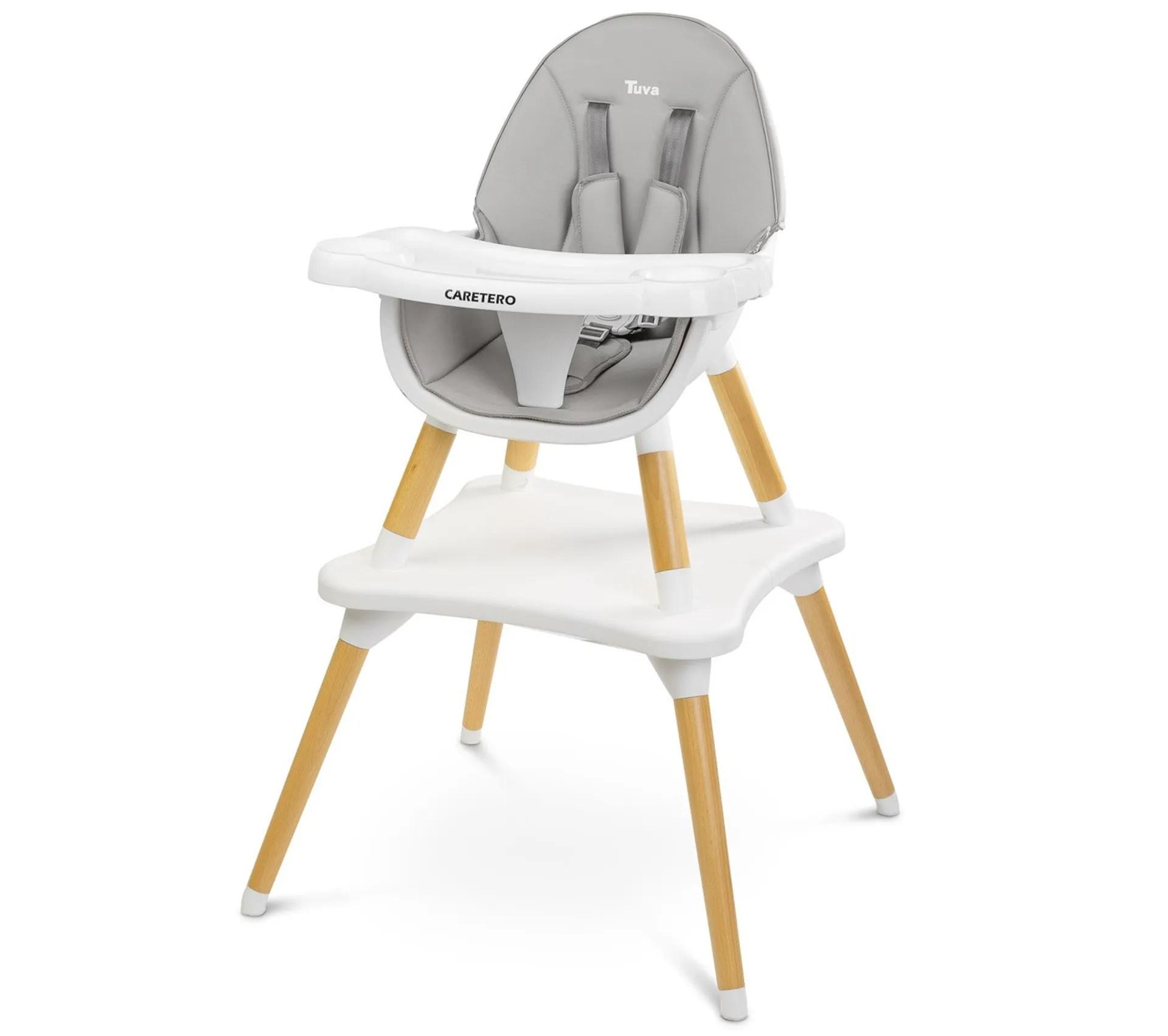 tuva chaise haute evolutive en table et chaise gris