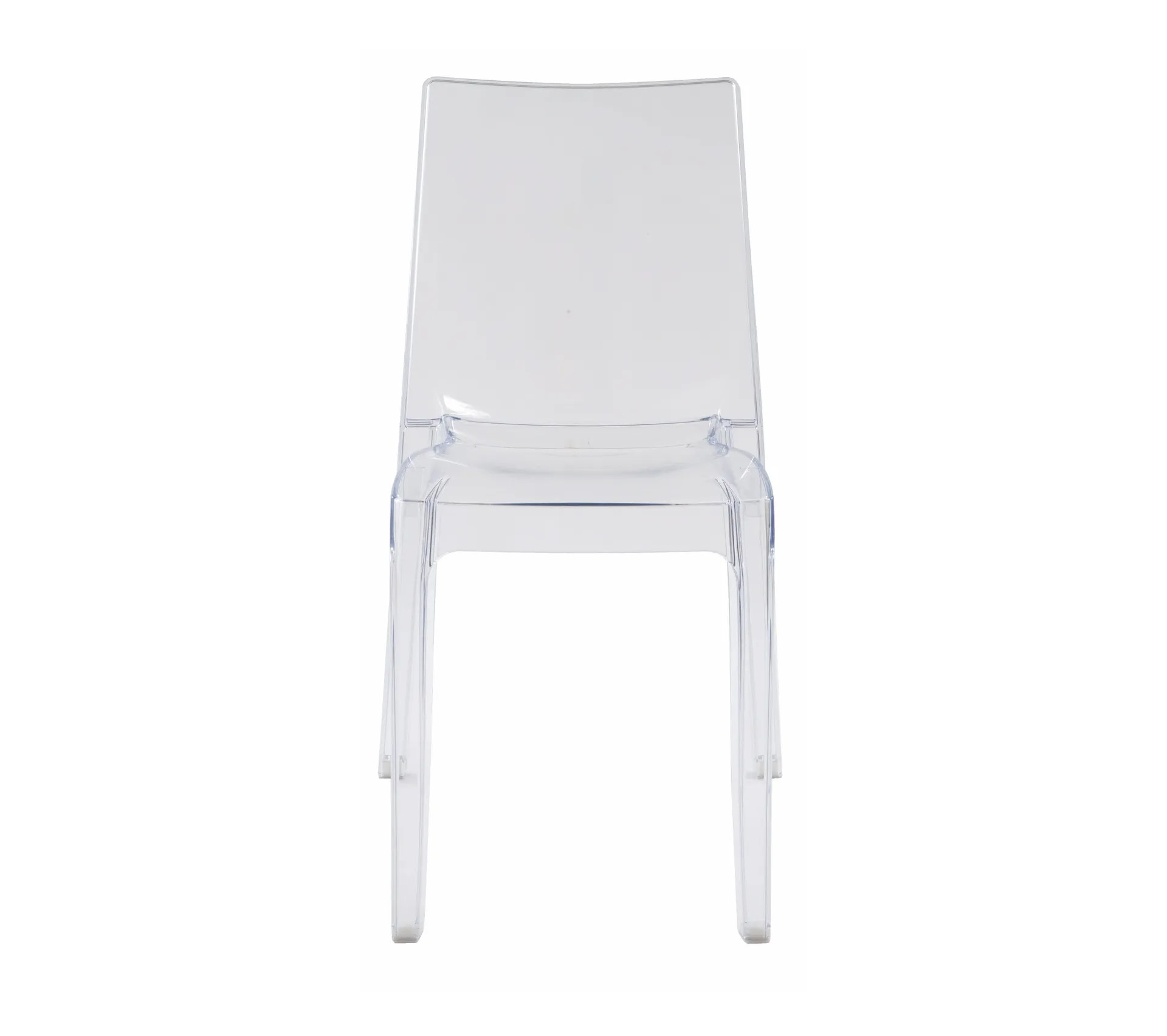 chaise cristal transparent