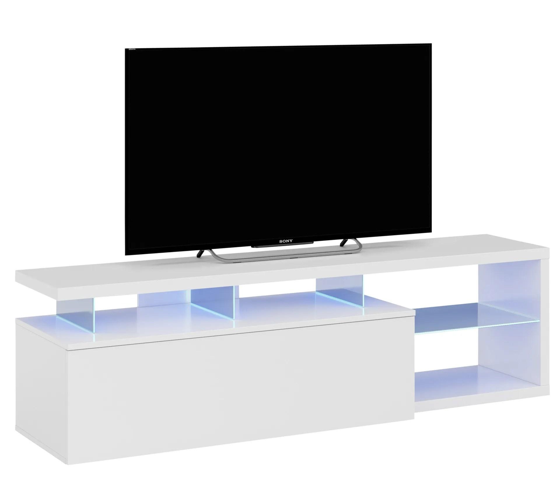 meuble tv led lead blanc