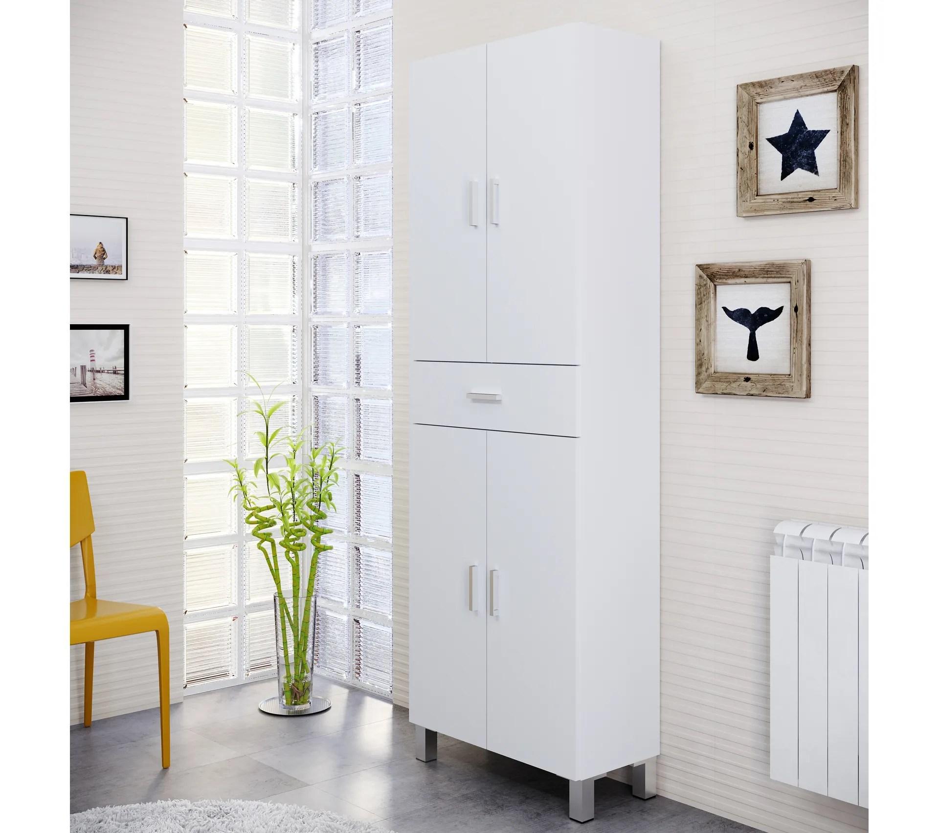 colonne de salle de bain tahiti blanc