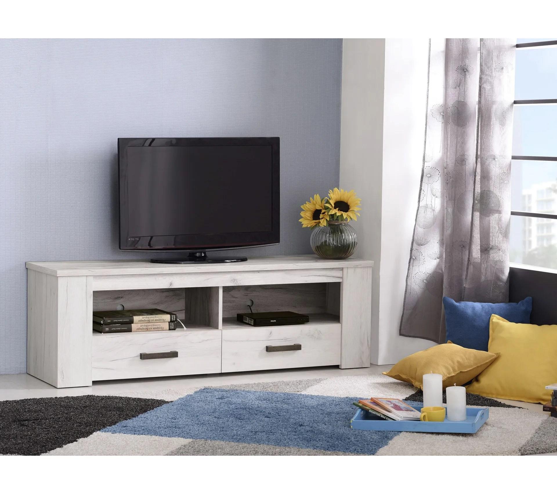 meuble tv campagne cecilia chene blanc