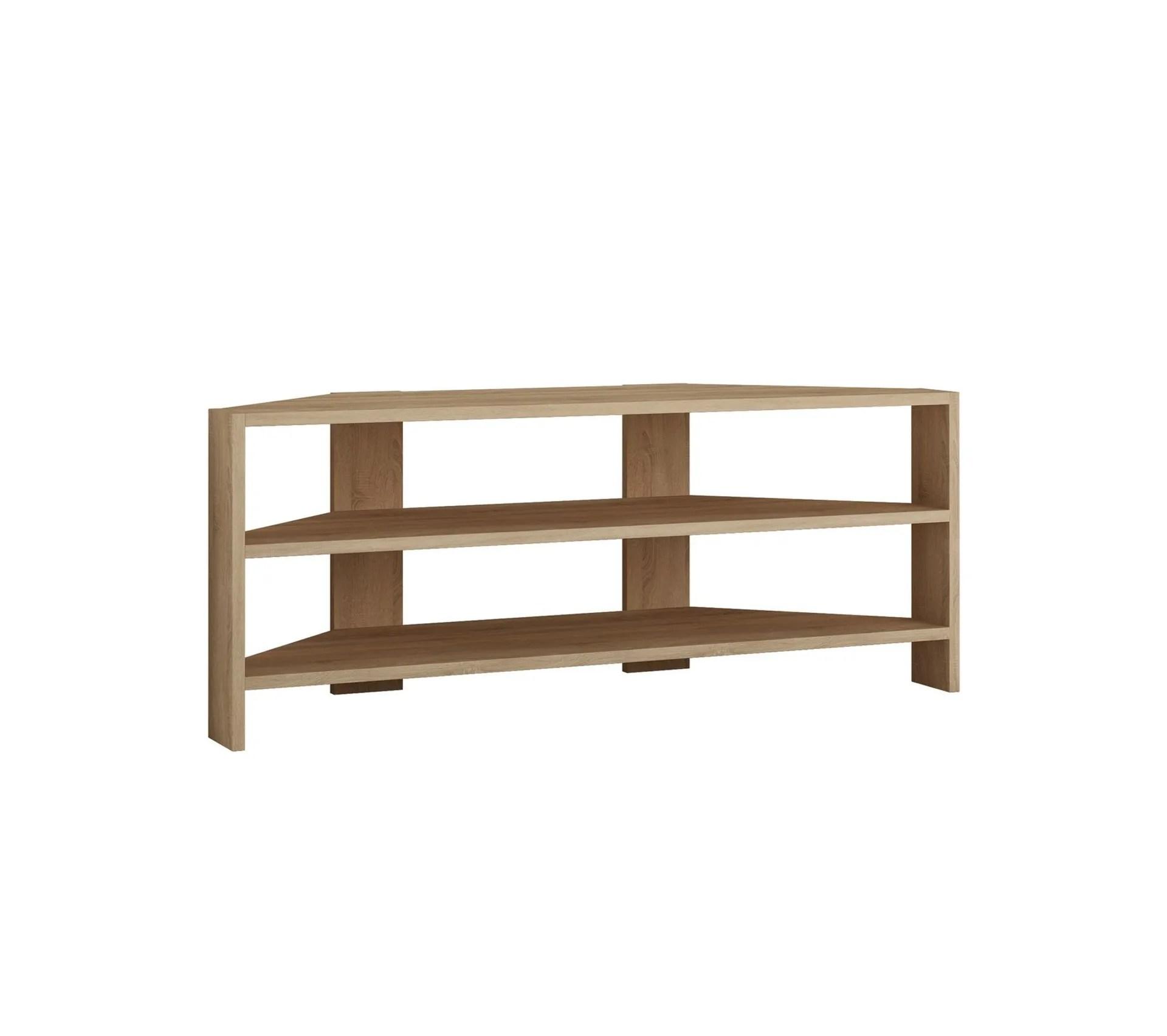 meuble tv dangle design scandinave thales l 114 x h 45 cm marron
