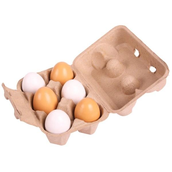 Trämat Ägg i kartong
