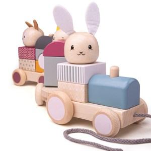 Dragleksak tåg kanin