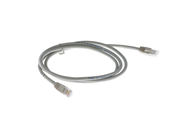 Cat6 Crossover Ethernet Patch Cable, Booted, 5ft, Gray