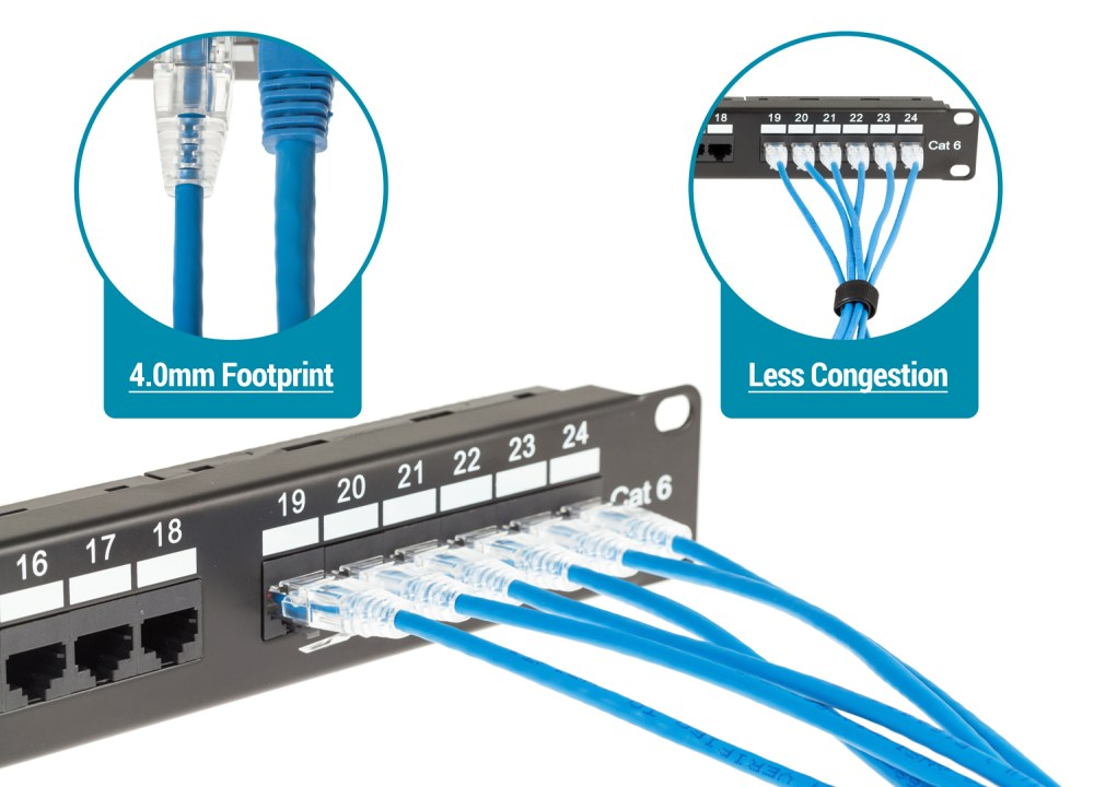 medium resolution of our cat6 slim ethernet patch cables are the perfect solution for high density installations in data centers or any network setup where space is limited
