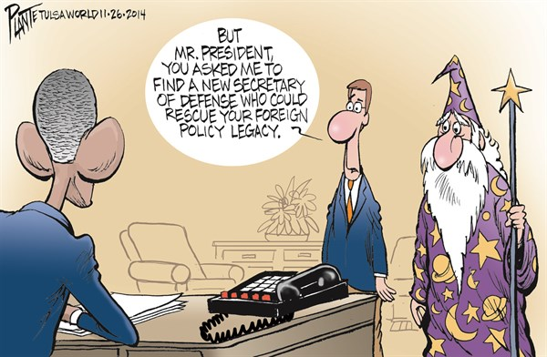 156821 600 New Secretary of Defense cartoons