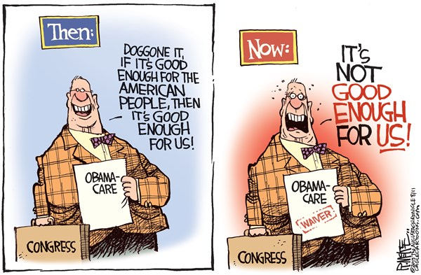 135801 600 Congress Obamacare Waiver cartoons