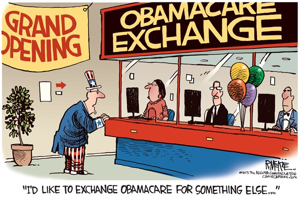 137973 600 Obamacare Exchange cartoons