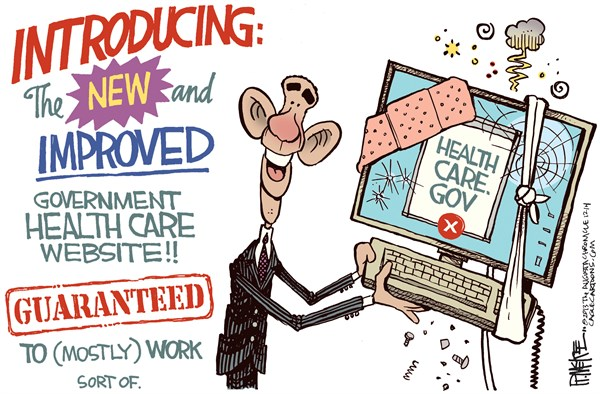 141014 600 Obamacare Site Fixed cartoons