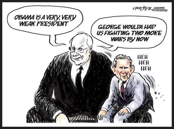 149092 600 Dick Cheney put the W in Weakness for War cartoons