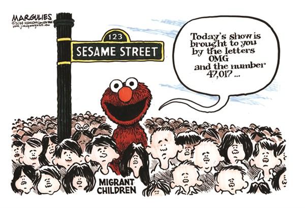 149873 600 Migrant children cartoons