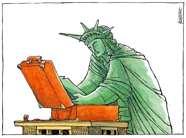 Michael Kountouris - Greece - Election 2016The day after - English - Election 2016,statue of Liberty,Donald Trump,