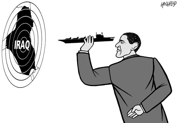 149784 600 Obama  Iraq cartoons
