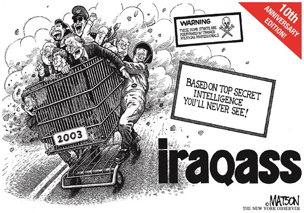 128945 600 Tenth Anniversary of Iraq Invasion cartoons
