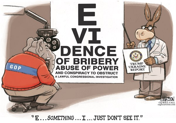 Editorial Cartoon: Impeachment Eye Test