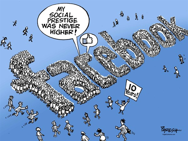 Image result for social media political cartoon