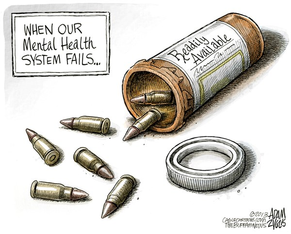 gun control mentall illness Our readers shared their thoughts on mass shootings, mental health issues and what it would take for congress to address gun control in the us.