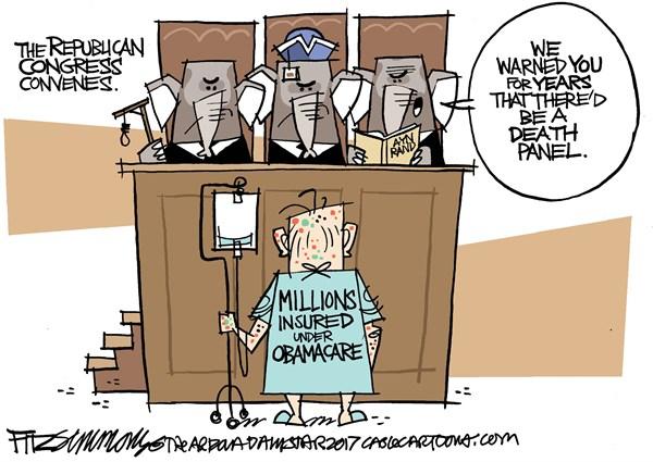 Image result for arizona star obamacare cartoon