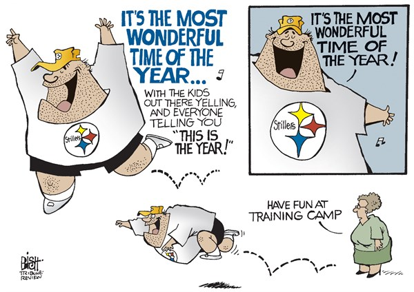 151351 600 LOCAL  PA STEELERS TRAINING CAMP OPENS cartoons