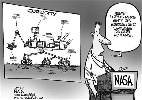 Curiosity © Kirk Walters,Toledo Blade,curiosity,mars,rover,nasa,funding,life,water,red,planet,mars,curiosity-mars