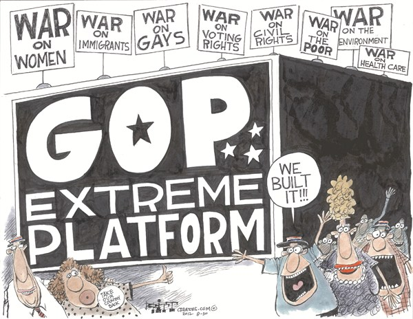 GOP Platform © Chris Britt,The State Journal Register,gop,platform,rights,poor,rights,voting,republican-convention-2012