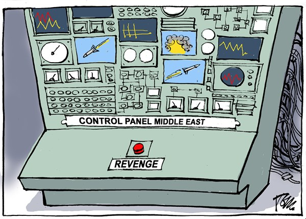 Control panel Middle East © Tom Janssen,The Netherlands,Middle East revenge, Israel Gaza revenge, Gaza rockets Israel,