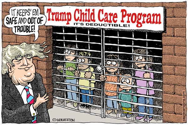 Image result for trump-children cartoons