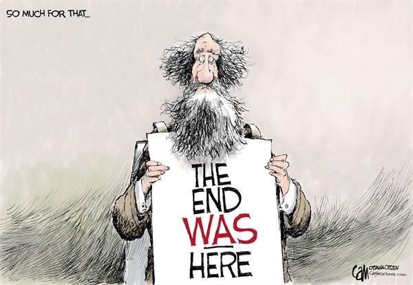 The End © Cardow,The Ottawa Citizen,december 21,2012,mayan,end,world,prophesy,doomsday,future,foretelling,mayan calendar, mayan calendar 2012