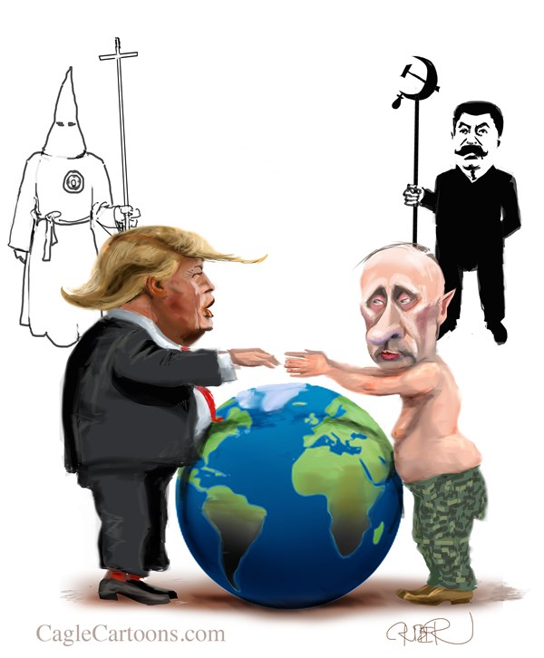 Image result for cartoons about trump and russia