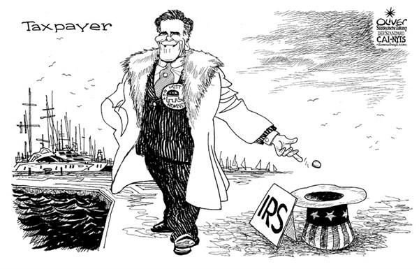 Romney taxes © Oliver Schopf,Der Standard, Austria,Mitt Romney,taxes,
