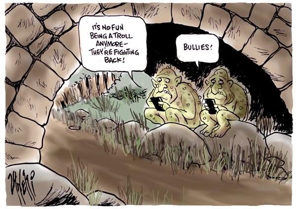 Twitter Trolls © Paul Zanetti,Australia,twitter,trolls,phone,internet