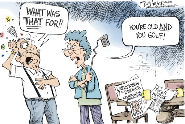 "The ""Free' Press had a gala time with a 'free' victim. Cartoon by Joe Heller, Green Bay Press-Gazette - 4/16/2010 12.00.00 AM"