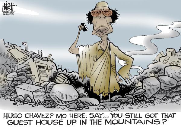 Randy Bish - Pittsburgh Tribune-Review - LIBYA UNDER FIRE, COLOR - English - LIBYA, COLONEL, GADHAFI, GADDAFI, LEADER, DESPOT, DICTATOR, REBEL, REBELS, RESISTANCE, ATTACK, UN, COALITION, BOMB, BOMBING, MADMAN