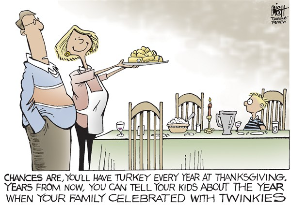 A TWINKIE THANKSGIVING © Randy Bish,Pittsburgh Tribune-Review,TWINKIES,HOSTESS,hostess bankruptcy, thanksgiving 2012