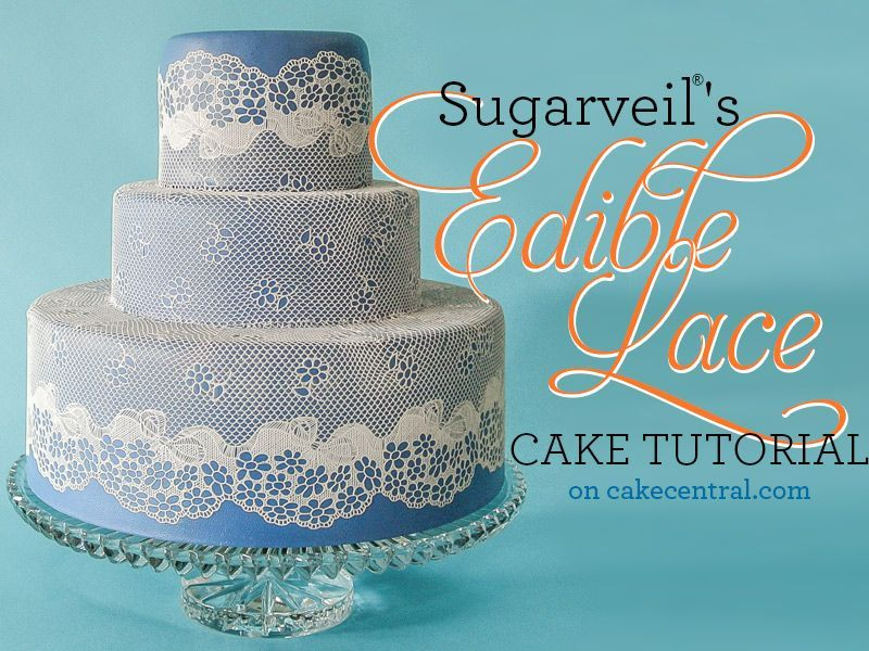 SugarVeil Lace Tutorial  CakeCentralcom