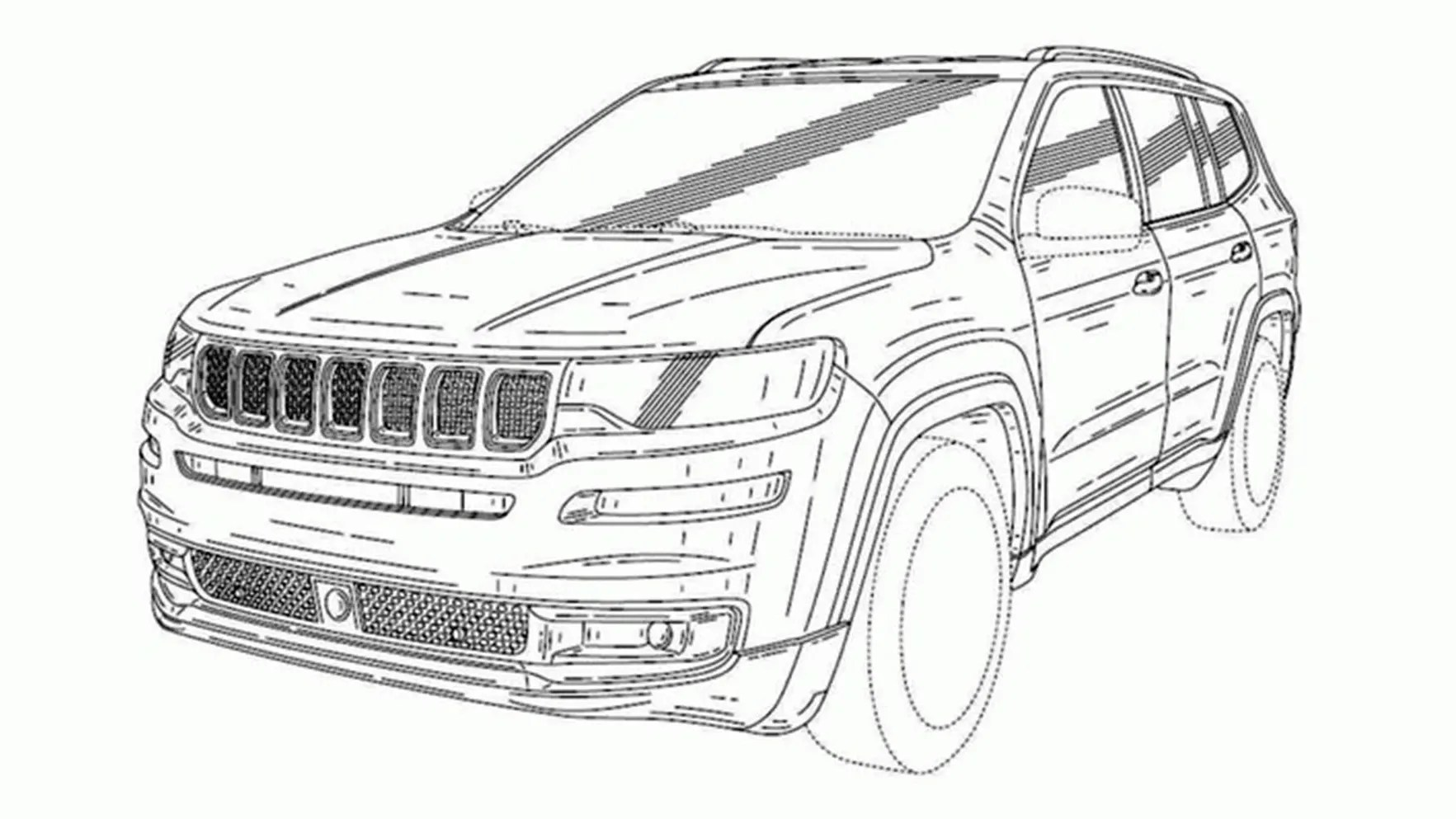 2018 Jeep Grand Commander revealed in patent sketches