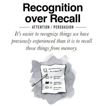 Image result for recognition and recall