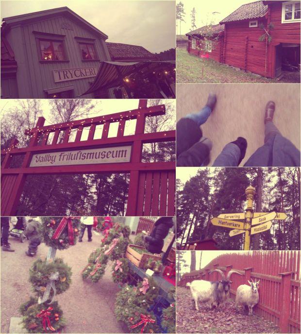 Julmarknad på Vallby Friluftsmuseum