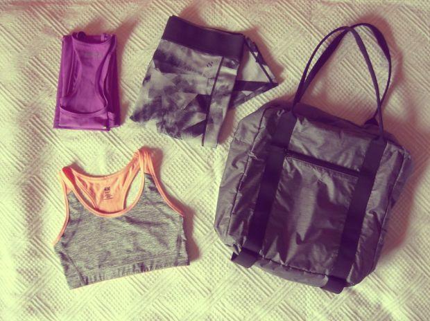 i min gymväska - träningskläder och väska