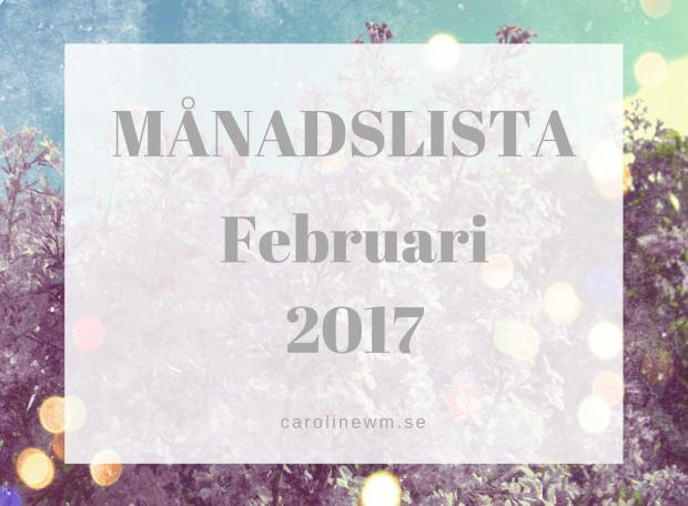 Månadslista februari 2017
