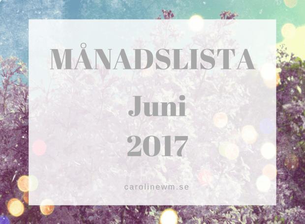Månadslista Juni 2017
