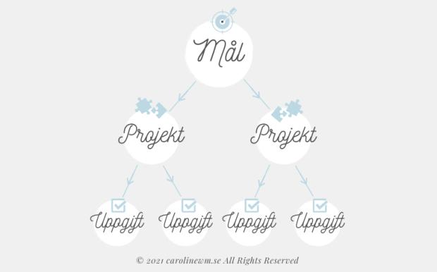 Projekt, mål, uppgifter – vad är vad?