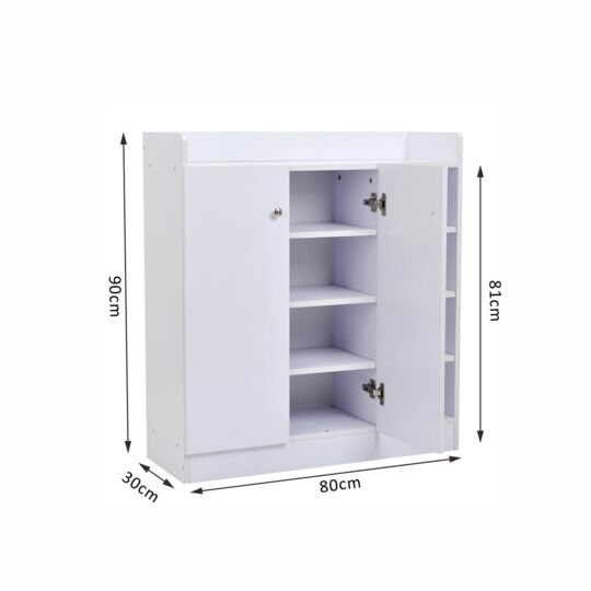 armoire meuble a chaussures blanc a